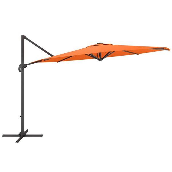 Parasol excentré orange de luxe pour la terrasse