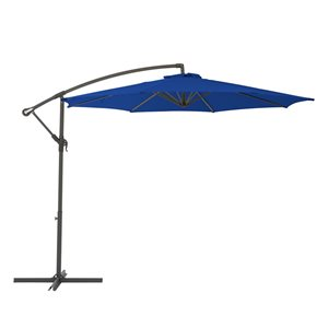 CorLiving Offset Patio Umbrella - Cobalt Blue