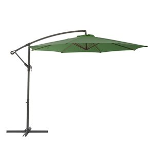 CorLiving Offset Patio Umbrella - Forest Green