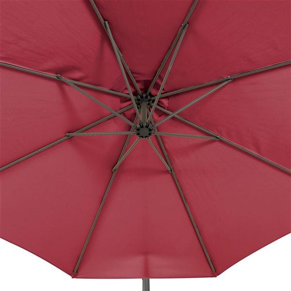 CorLiving Offset Patio Umbrella - W-e Red