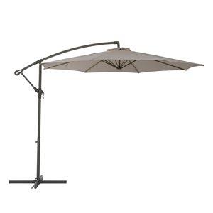 CorLiving Offset Patio Umbrella - Sand Grey
