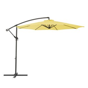 CorLiving Offset Patio Umbrella - Yellow