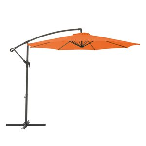 CorLiving Offset Patio Umbrella - Orange