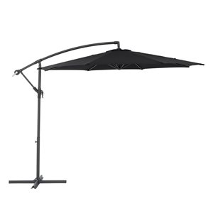 CorLiving Offset Patio Umbrella - Black