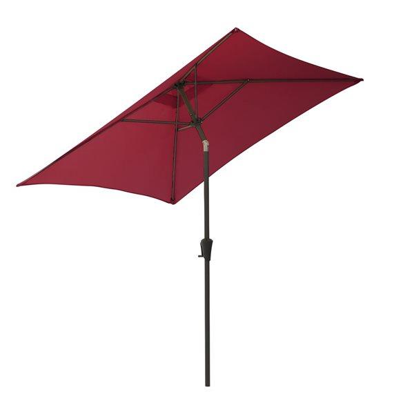 Parasol carré vin rouge