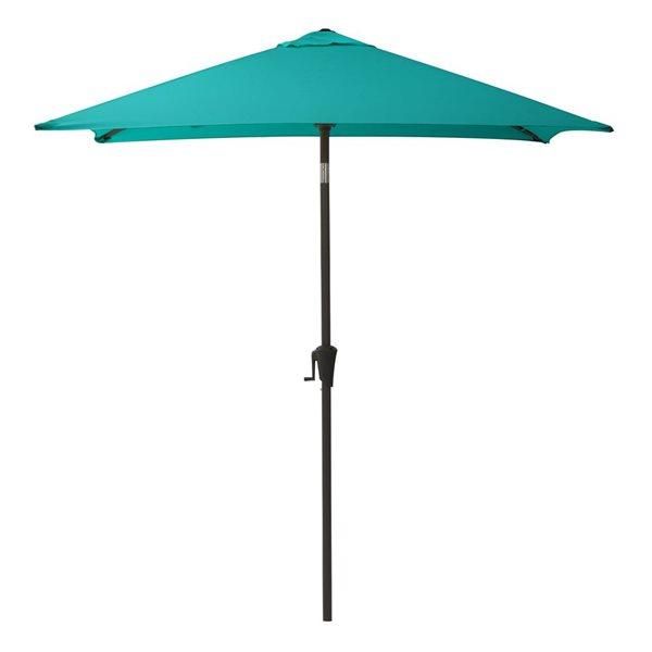 Parasol carré bleu turquoise