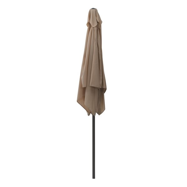 Parasol carré brun sable