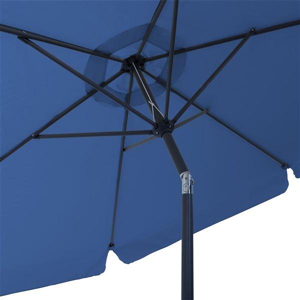 Parasol inclinable bleu cobalt
