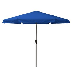 Parasol inclinable bleu cobalt