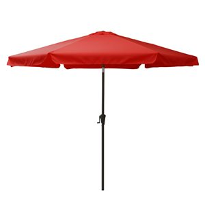 Parasol inclinable rouge cramoisi