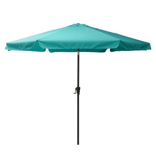 Parasol inclinable bleu turquoise