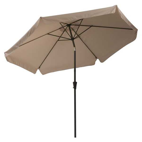 Parasol inclinable brun sable