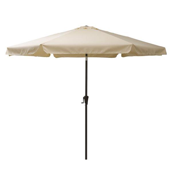 Parasol inclinable blanc chaud