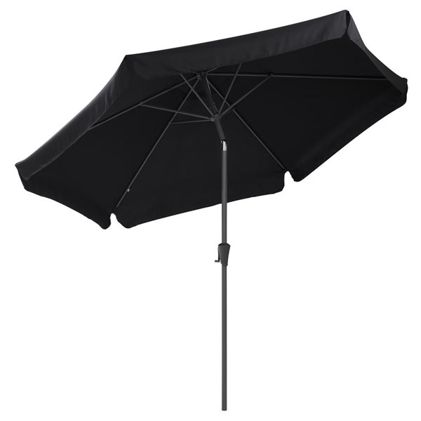 Parasol inclinable noir