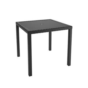 Square Patio Dining Table - Charcoal