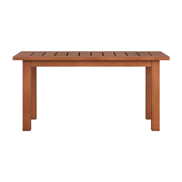 Table basse extérieure, brun