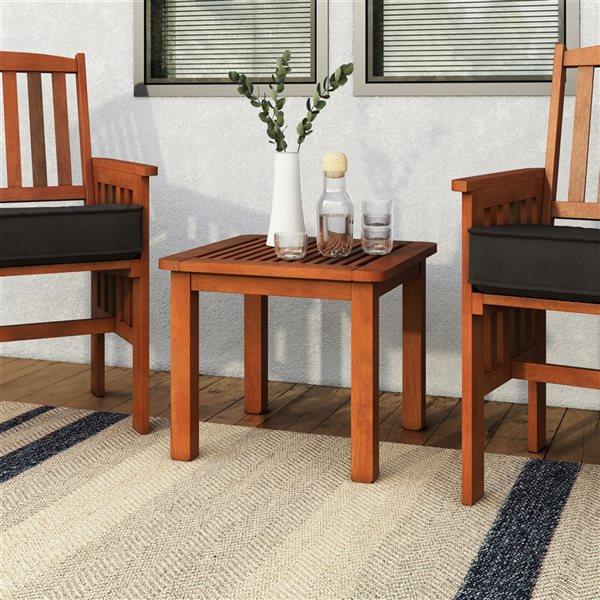 Table d'appoint extérieure, brun