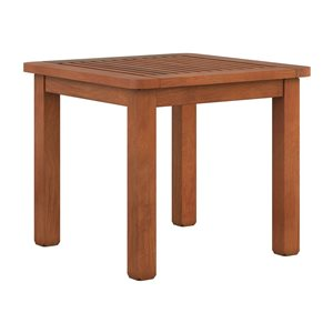 CorLiving Outdoor Side Table - Brown