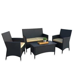 Patio Set - 4 Pieces - Yellow