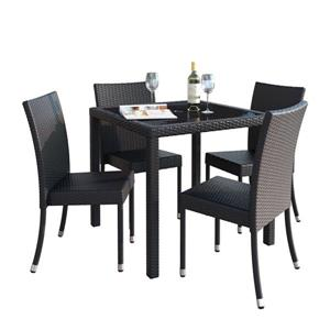 CorLiving Outdoor Dining Set - 5 Pieces - Charcoal