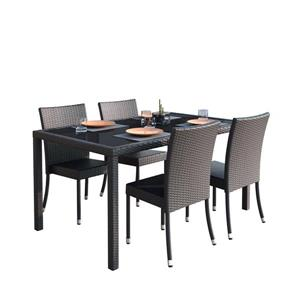 Outdoor Dining Set - 5 Pieces - Charcoal