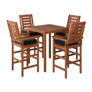 CorLiving Outdoor Bistro Set - 5 Pieces - Brown