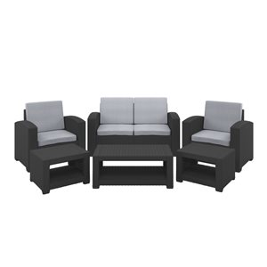 CorLiving Conversation Set - 6 Pieces - Grey
