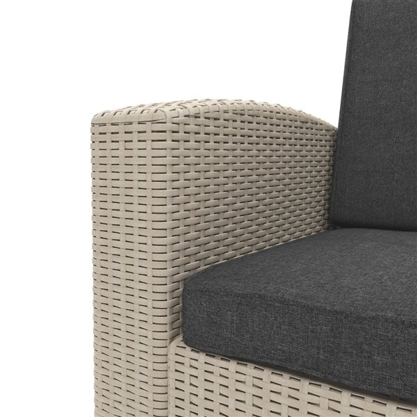 CorLiving Outdoor Chair and Ottoman Set - Beige