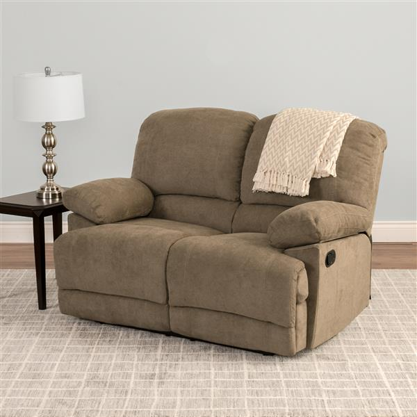 Corliving Causeuse Inclinable En Tissu Chenille Brun Lzy 391 L Rona