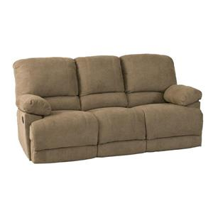 Sofa inclinable en tissu chenille, brun