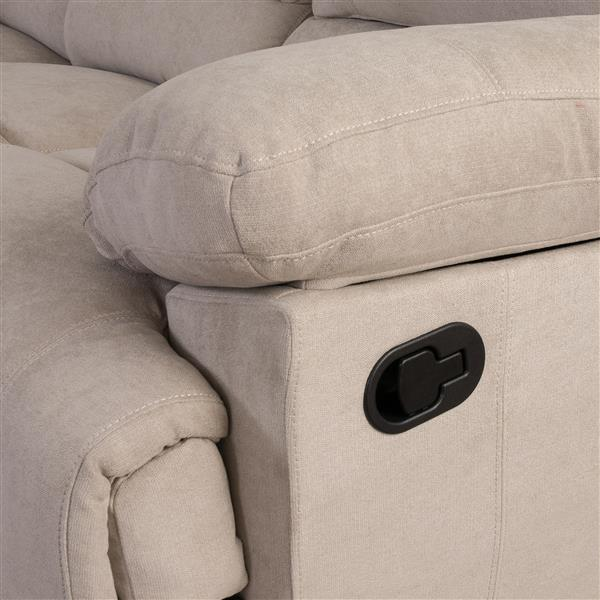 Causeuse inclinable en tissu chenille, beige