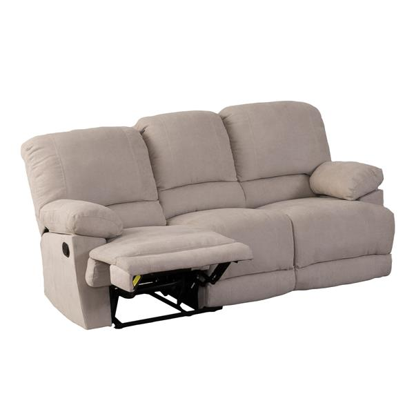 Sofa inclinable en tissu chenille, beige