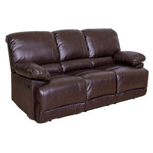 CorLiving Bonded Leather Reclining Sofa - Chocolate