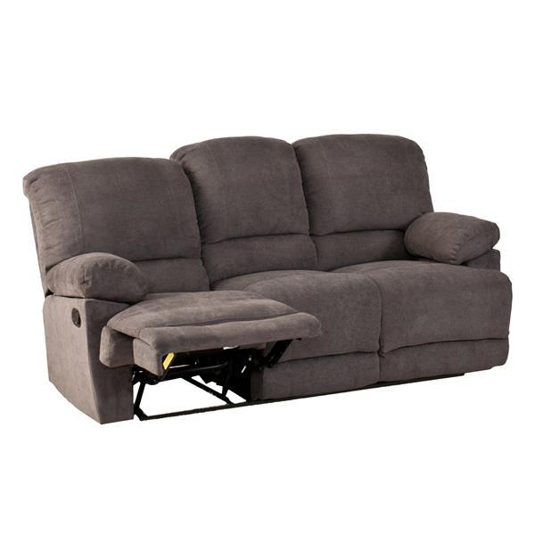 Sofa inclinable en tissu chenille, gris