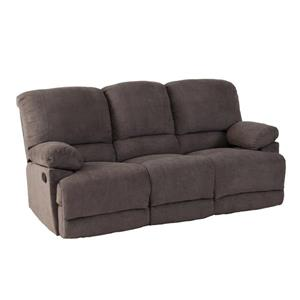 Sofa inclinable en tissu chenille, gris