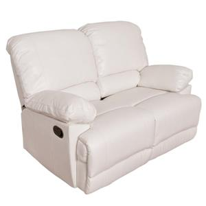 Causeuse inclinable en cuir reconstitué, blanc