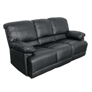 Sofa inclinable en cuir reconstitué, noir