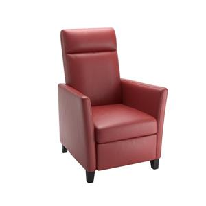 CorLiving Red Bonded Leather Recliner