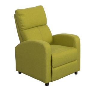 Linen Fabric Recliner - Green