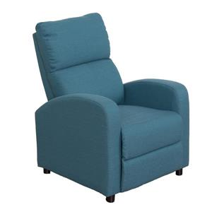 CorLiving Linen Fabric Recliner - Blue