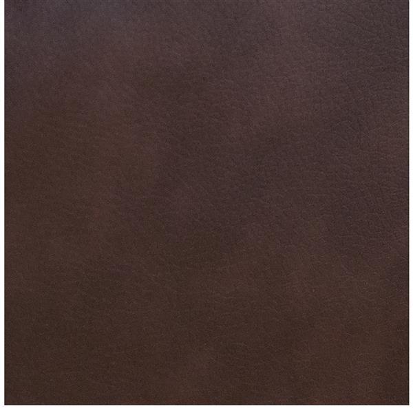 Fauteuil inclinable en cuir reconstitué, chocolat