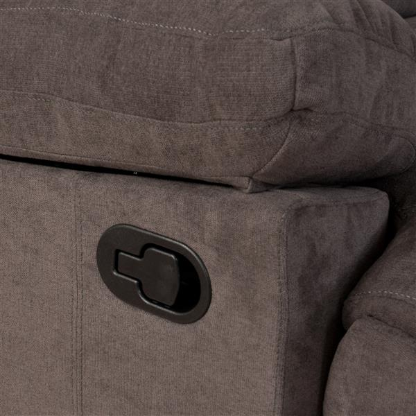 CorLiving Chenille Fabric Recliner - Grey