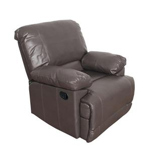 Bonded Leather Reclining Chair - Brown