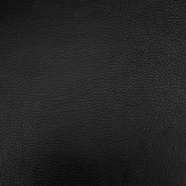 Fauteuil inclinable en cuir reconstitué, noir