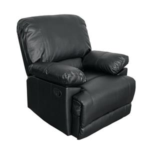 CorLiving Bonded Leather Reclining Chair -Black