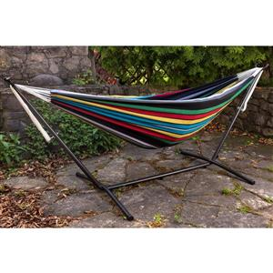 Vivere Combo - Double Rio Night Hammock with Stand - 9-ft