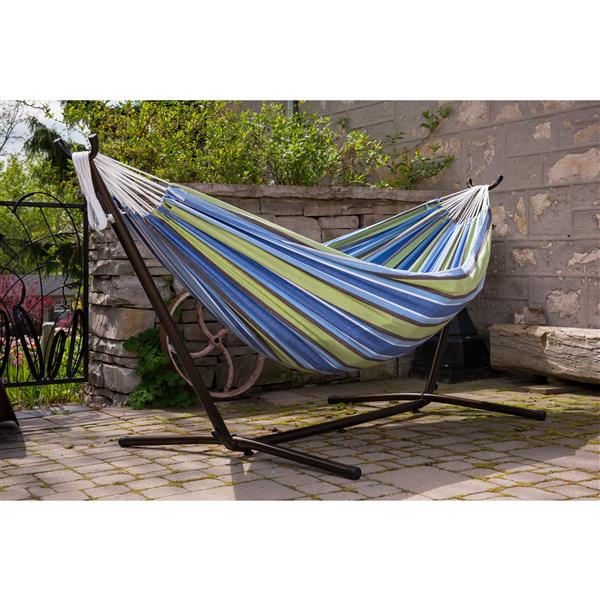 Vivere Combo - Double Oasis Hammock with Stand - 9-ft