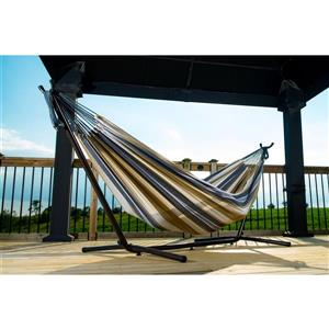Vivere Combo - Double Desert Moon Hammock with Stand - 9-ft