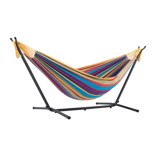 Vivere Combo - Double Tropical Hammock with Stand - 9-ft