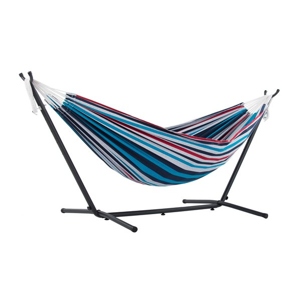 Vivere Combo - Double Denim Hammock with Stand (9ft)